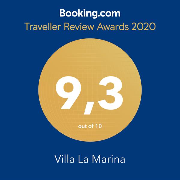 Villa La Marina Booking.com 9,3/10 score